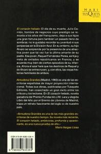 El Corazon Helado - Contra portada